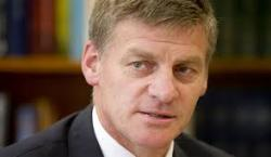 Bill English ... on tour.