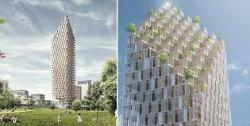 Photo Credit: The 34-storey timber tower planned for Stockholm.